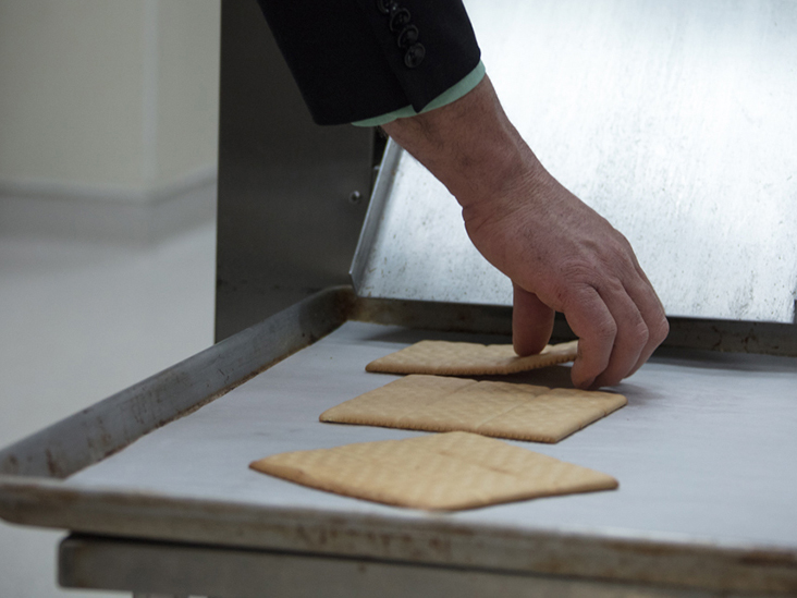 Crackers on Tray