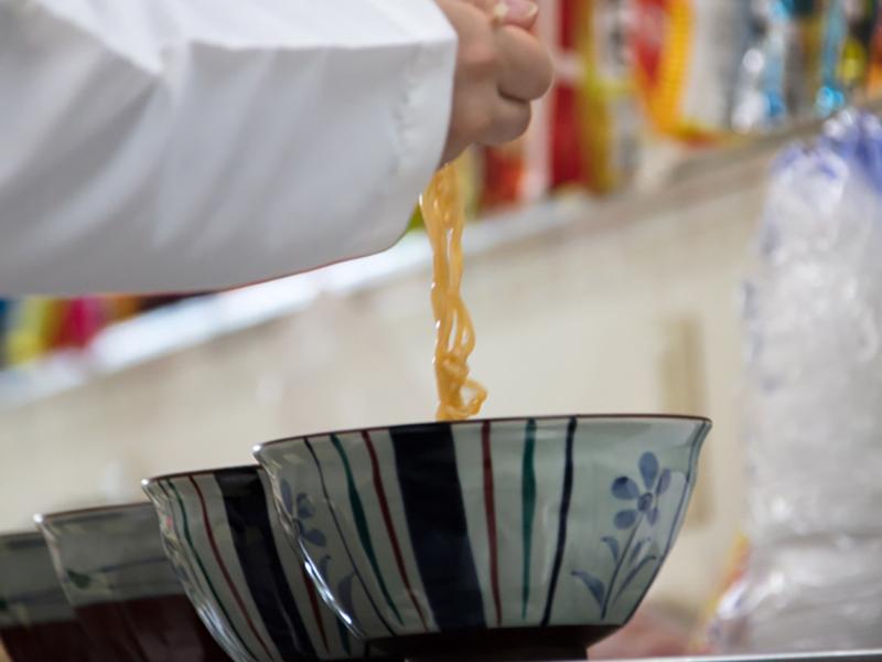 Noodles in Bowl
